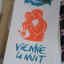 serigraphie Vienne la Nuit